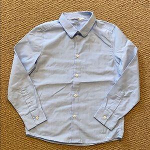 H&M blue button down shirt